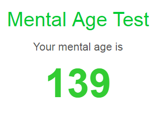 take the mental age test