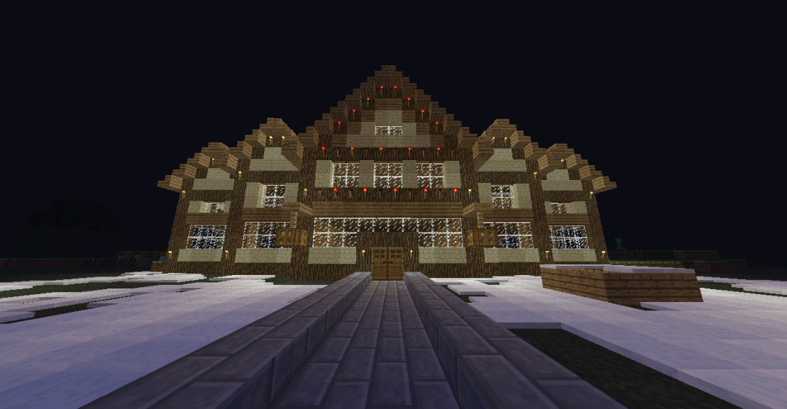 Minecraft Christmas Houses.So How Big Is Youre House Achievements Stats Archive