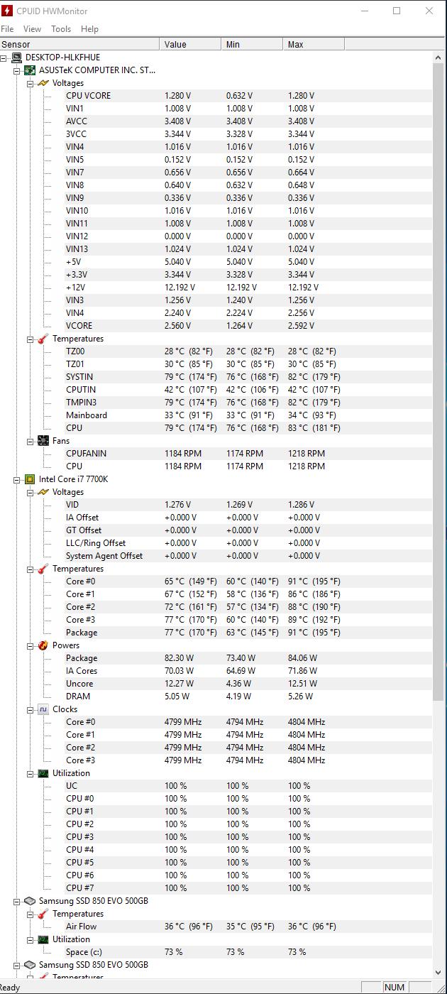 overclocking i7 7700k need help