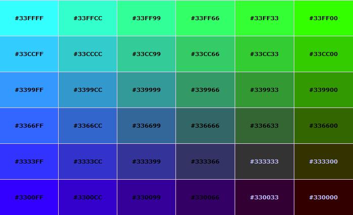 Зеленый цвет html код