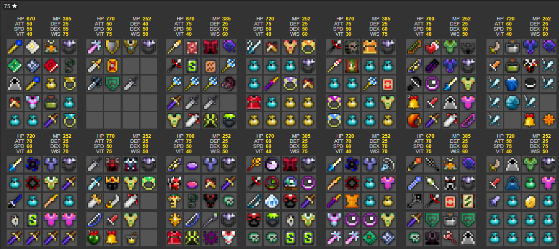 Sold - 75 STARS LATE GAME LH WHITES GUCCI PET 58 VAULTS 20 8