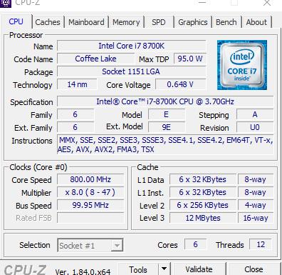 i7-8700k - Temperatura normal?   Mediavida