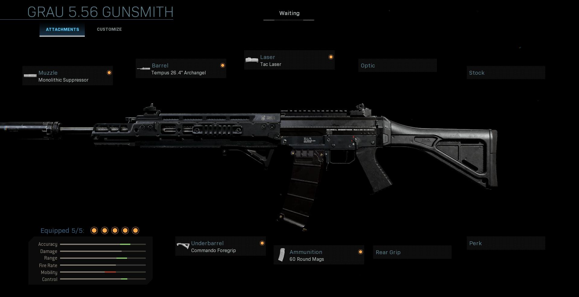 Grau 5.56 Gunsmith Gun Warzone