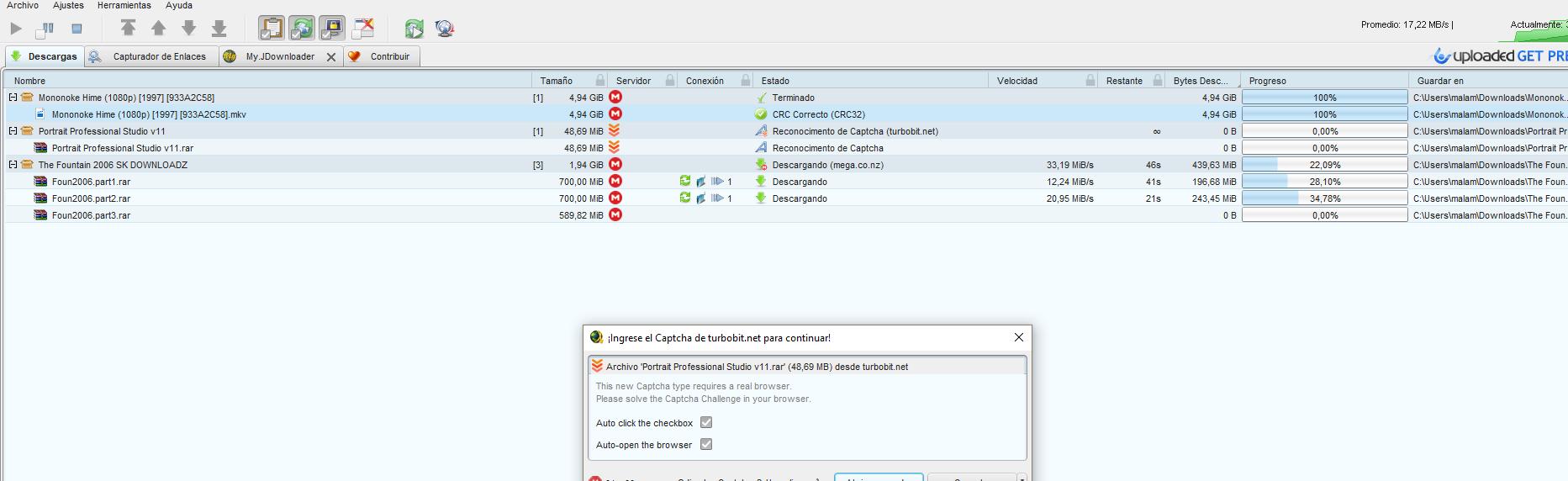 Jdownloader descargar mega sin limites