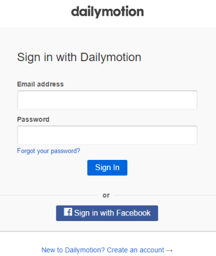 d5f60d31503c2 Sign in to your Dailymotion account with your email and password, or create  one if you don't have one yet, using the link in the bottom.
