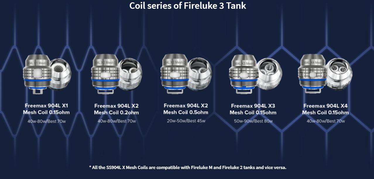 FreeMax Fireluke 3 Tank coils