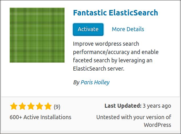 Fantastic Elasticsearch Activate
