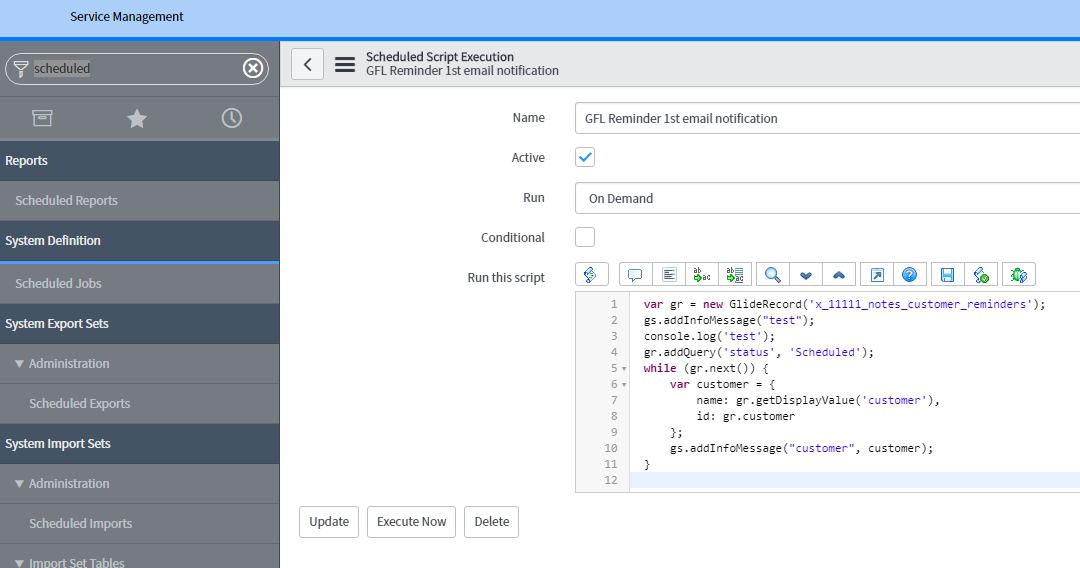 systems admininstration scripting log