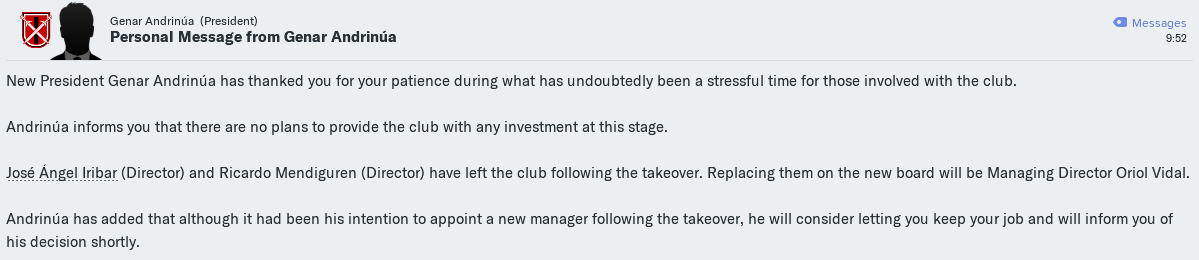 FM19] We are not very Athletic, so instead of playing the