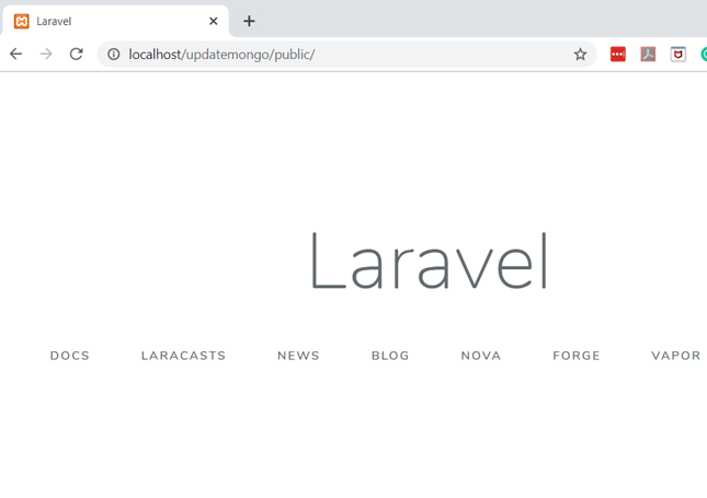 image shows the project directory of our Laravel project