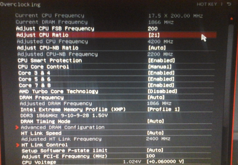 MSI 970 Waring !! Previous settings failed