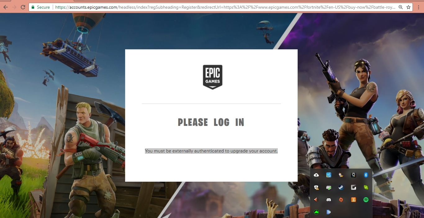 Epic Games You Must Be Externally Authenticated To Upgrade ...