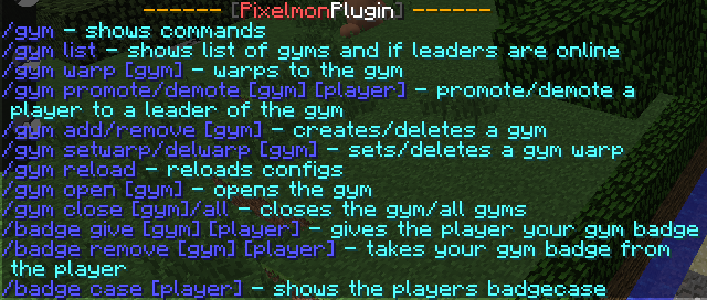 Pixelmon Commands