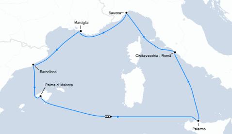 Guarda qui l'offerta crociera low cost nel Mediterraneo