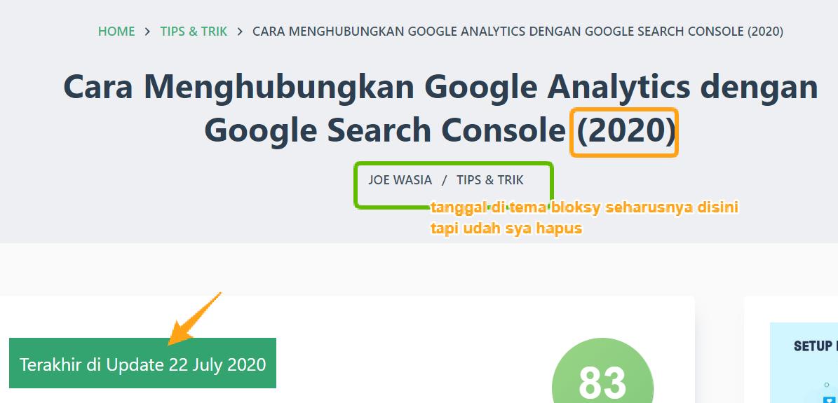 Cara Hapus Tanggal Postingan Blog di Hasil Pencarian Google (2020) 6