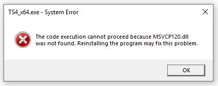 Sims 4 Error (MSVRC120.dll) 236c603ec891724dfdccedec93c724c3
