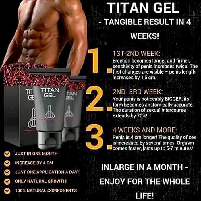 Titan Gel Intimate Special Gel For Man Original Ebay