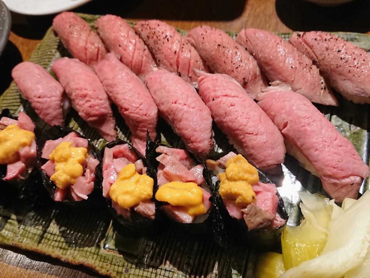 [写真]肉寿司