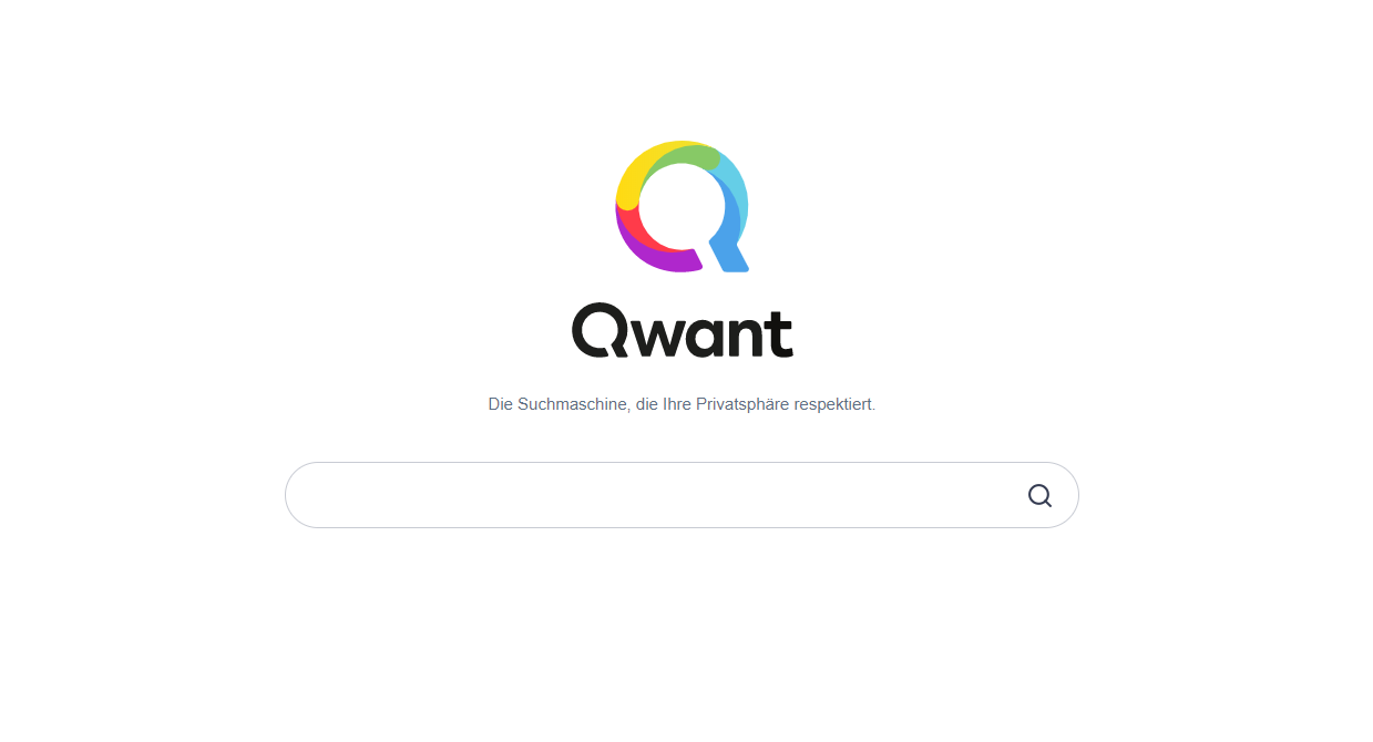 qwant.com - Screenshot der Homepage