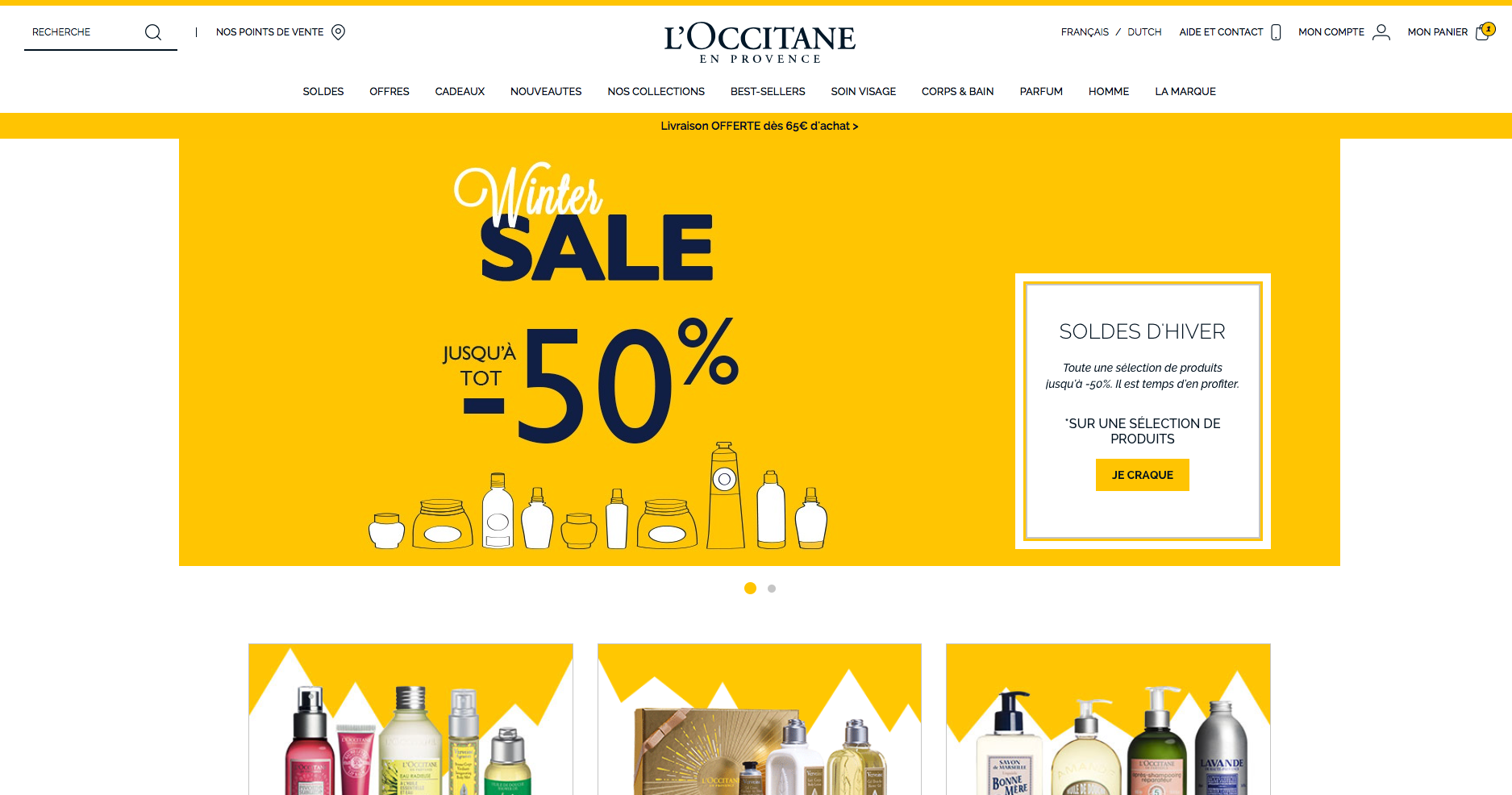 Whether or not you've been lucky enough to visit idyllic southern France, L'Occitane en Provence brings facial products, body washes and lotions, and even haircare products sourced from quality French ingredients to your computer screen. L'Occitane en Provence also sells skincare, beauty, and hair care products for men.