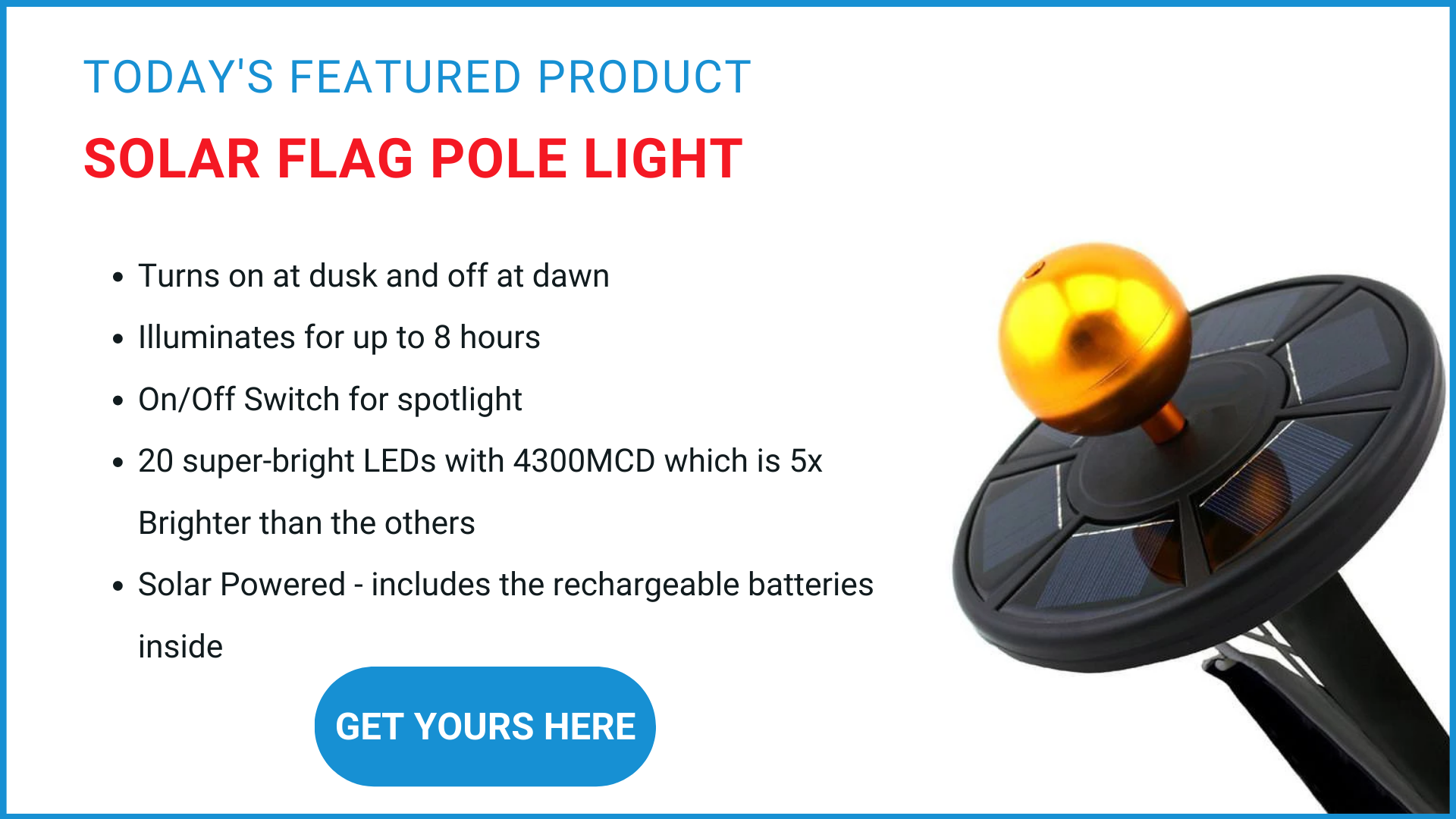 STAND Flag pole solar light