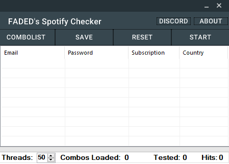 Spotify Checker