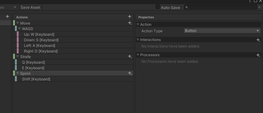 screenshot of control setup