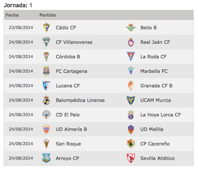 Calendario Liga Segunda.Seguimiento A La Segunda Division Grupo Iv Betisweb