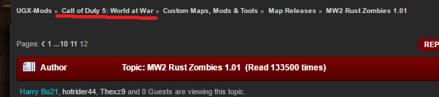 MW2 Rust Zombies 1 01 in Map Releases - Page 12 of 15