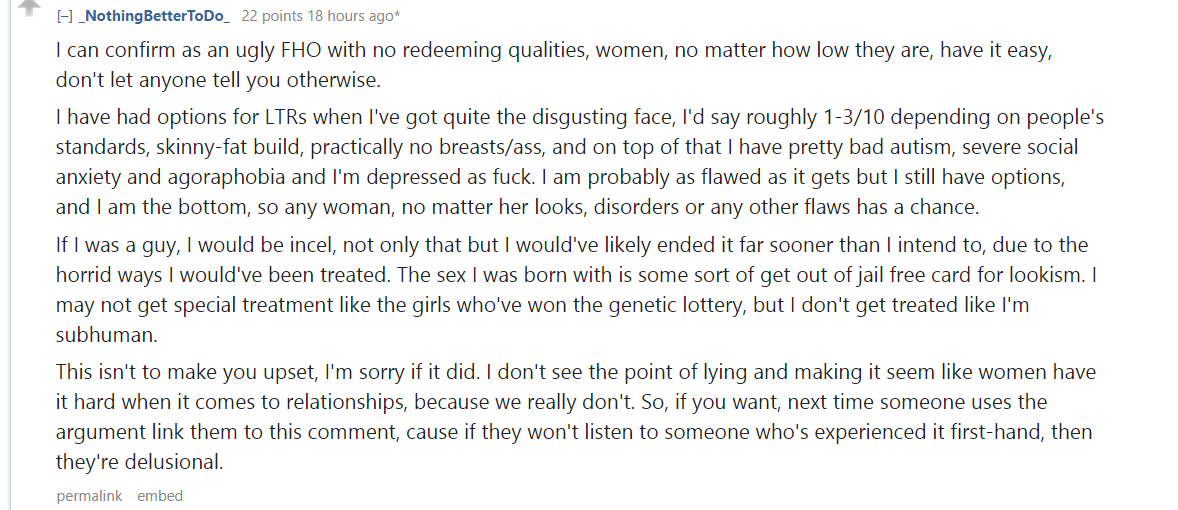 Ugly Fucked Up Woman Admits how easy Dating/Sex...
