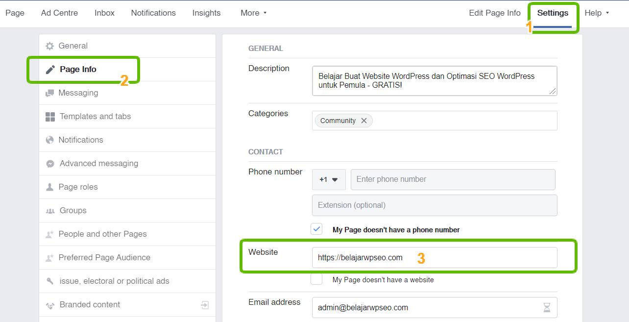 Cara Verifikasi Domain Website di Facebook Agar Tidak Mudah Di Blok (2020) 4