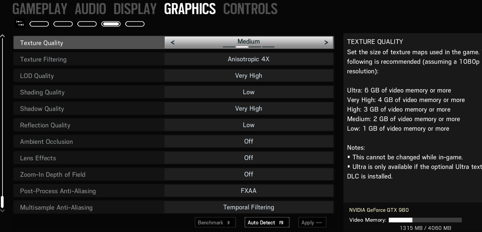 Pro Player video settings : Rainbow6