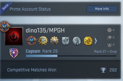 Looking for a prime CSGO account with high rank?.