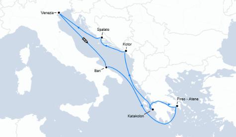 Guarda qui l'offerta crociera last minute Grecia, Montenegro e Croazia!