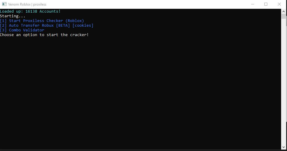 Venom V2   Roblox account Checker // Proxyless & Auto transfer robux