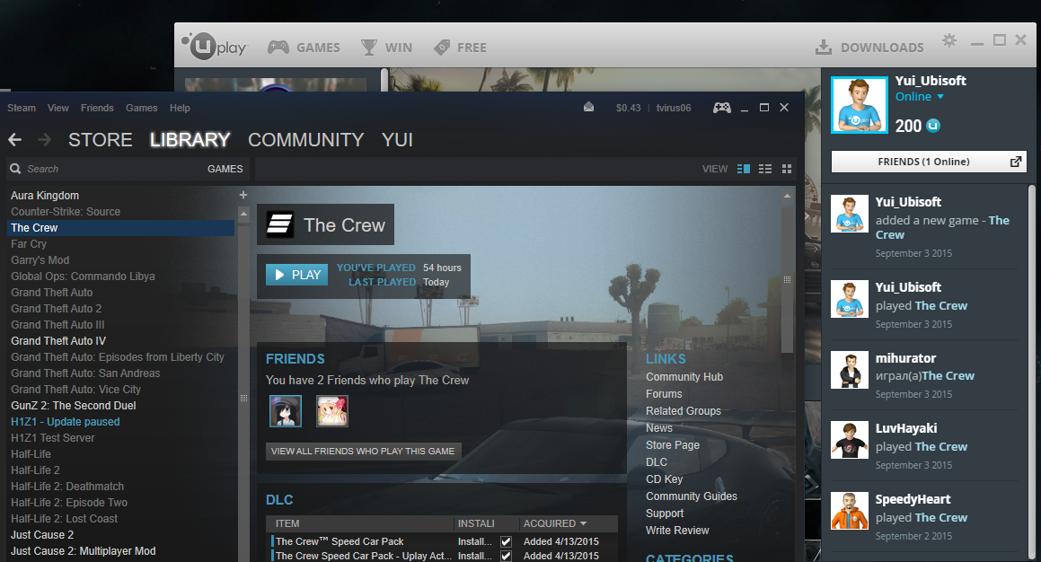 pc the crew automaticly deleted from ubisoft launcher forums. Black Bedroom Furniture Sets. Home Design Ideas