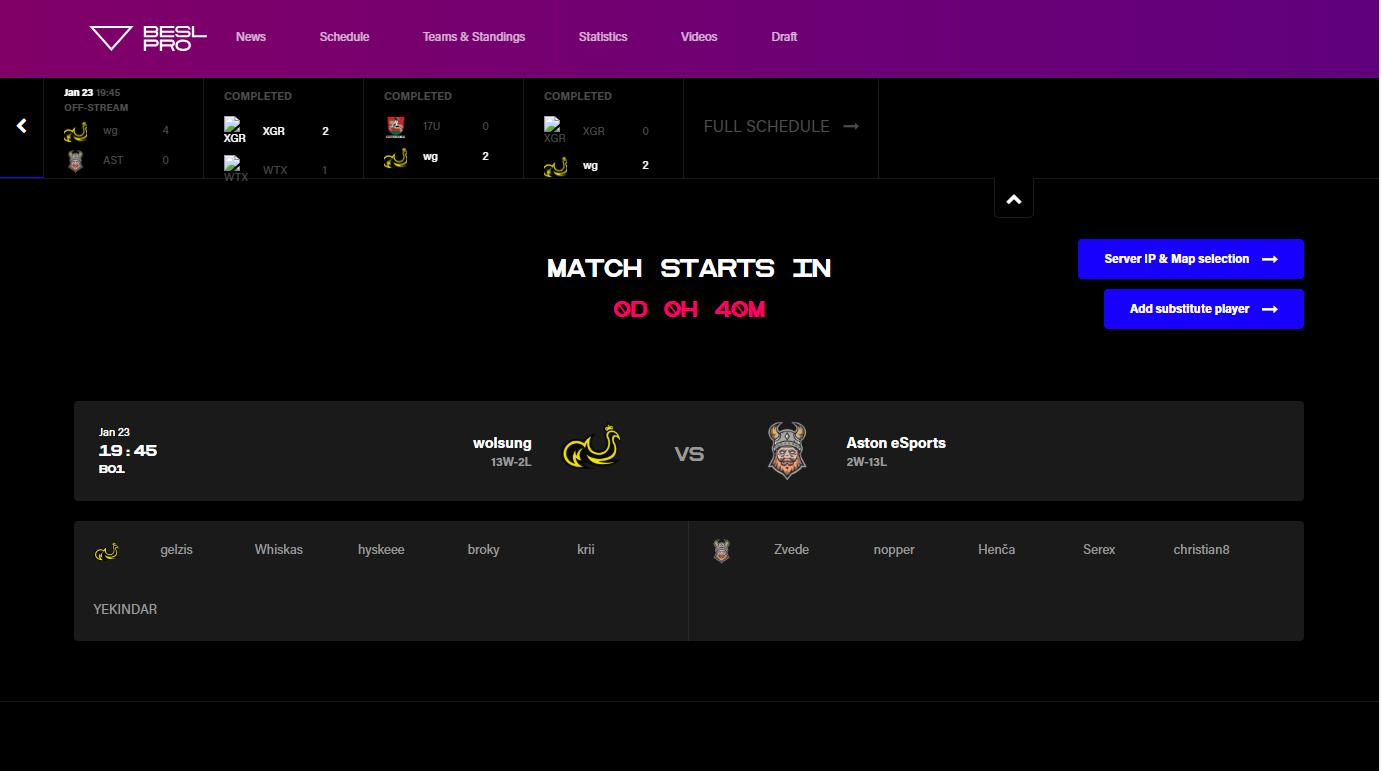 Rulebook | Baltic esports league