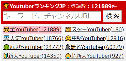 YouTuberランキングJP