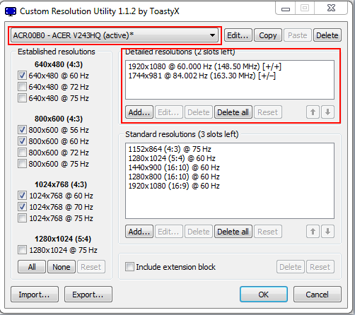 Overclocking your monitor refresh rate - ozfortress