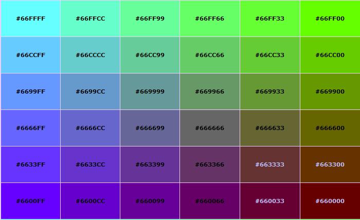 recipe: html color codes list [26]