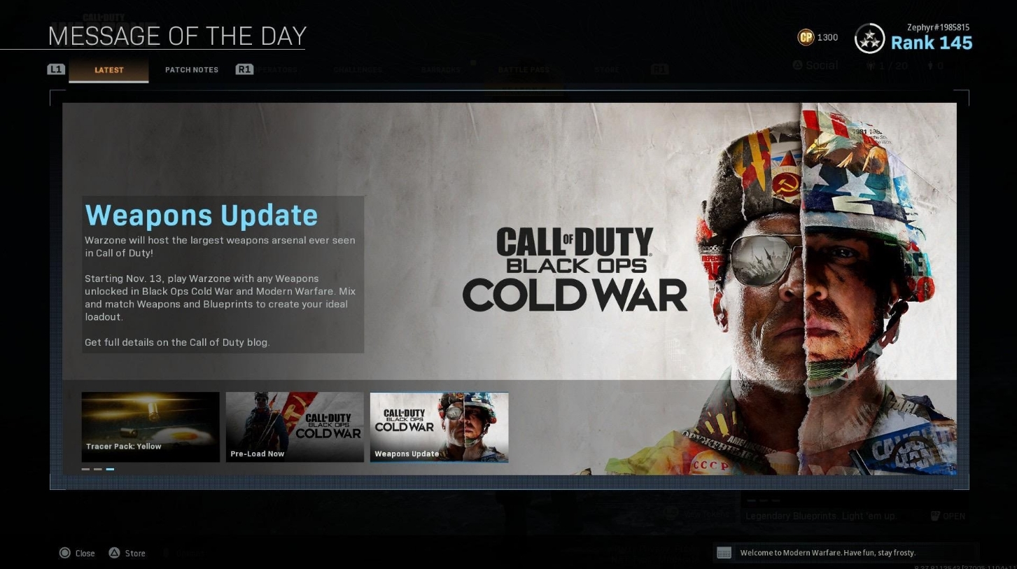 call of duty warzone to integrate black ops cold war weapons