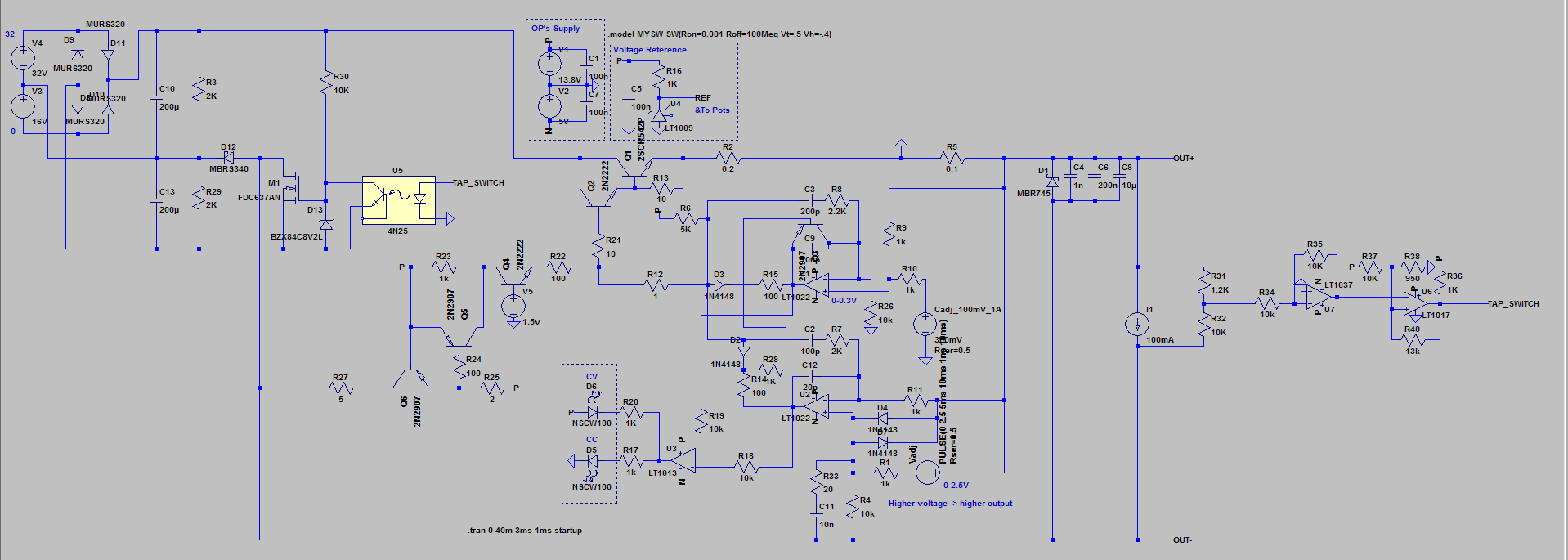Lab Power Supply 0 30v 3a Cv Cc Page 1 Circuit Diagram Seems To Be Working Fine