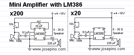 Improve sound detection with ADC via LM386 amplifier