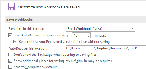how to turn autosave on in excel
