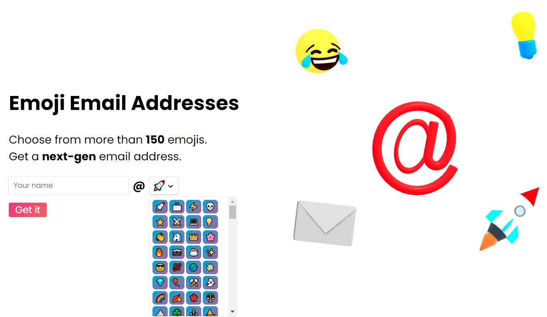 Mailoji emoji email address website
