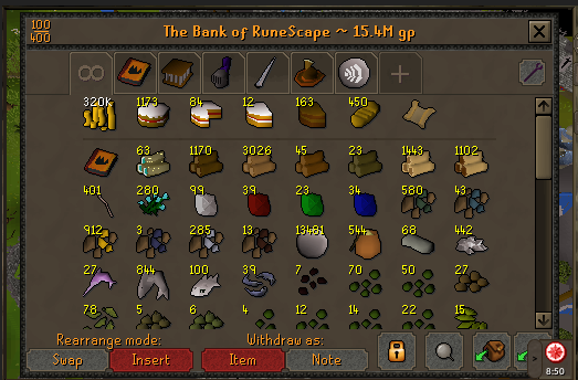 S]15M Bank Ironman Skiller - Accounts - OSBot :: 2007 OSRS Botting