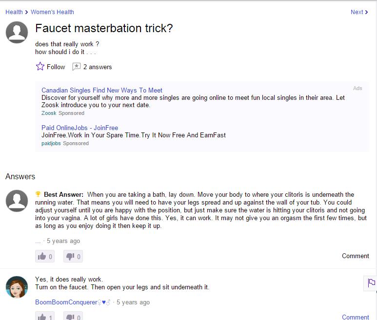 girl faucet masturbation