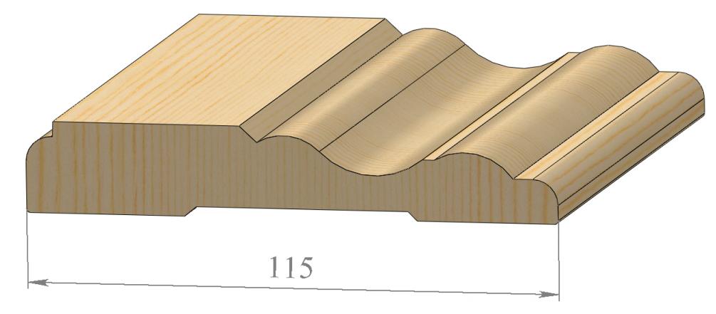 Наличник фигурный 115 мм