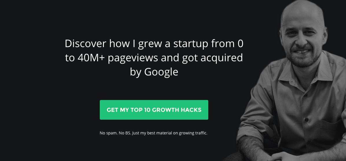 homepage grow email list
