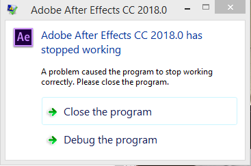 After Effects 2018 Crashes While Trying to Init    | Adobe